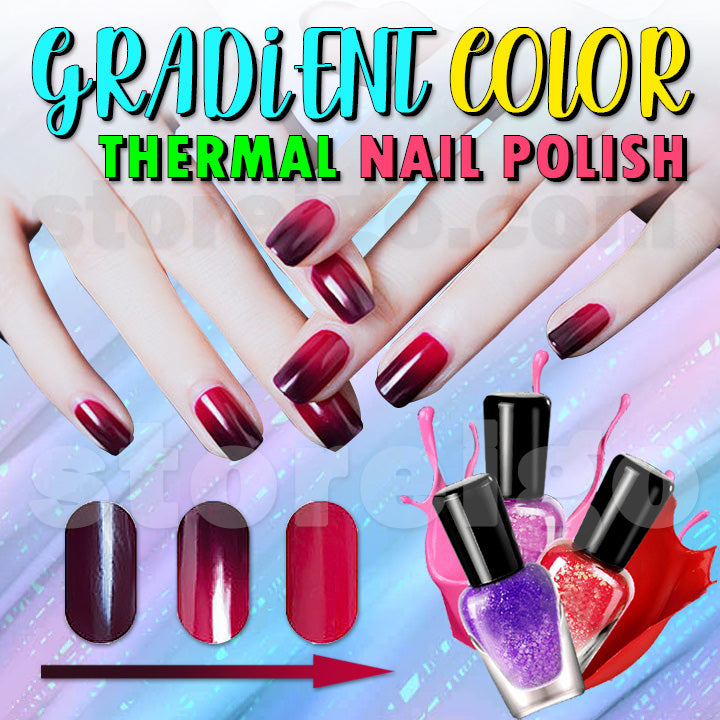 Gradient Color Thermal Nail Polish