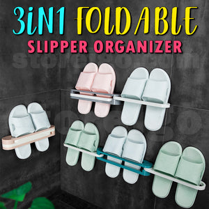 3-in-1 Foldable Slipper Organizer