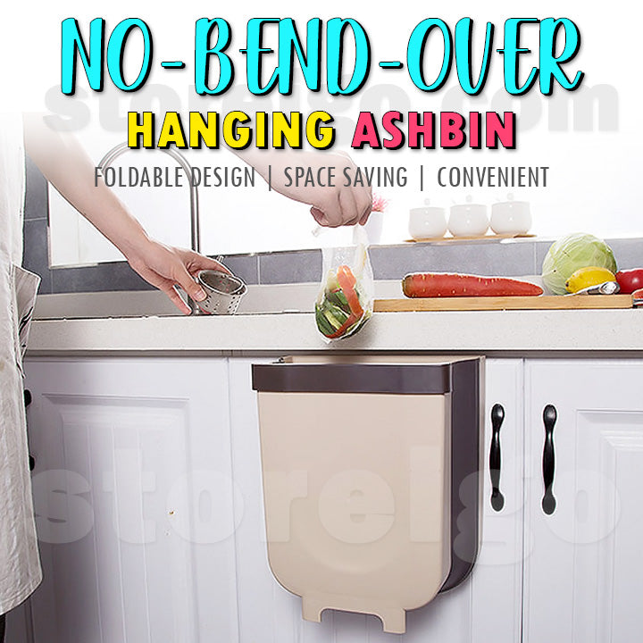 No-Bend-Over Hanging Ashbin