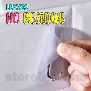 InvisiHook - Strong Transparent Wall Hooks (12 pcs)