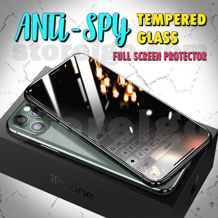 Anti-Spy Tempered Glass Full Screen Protector