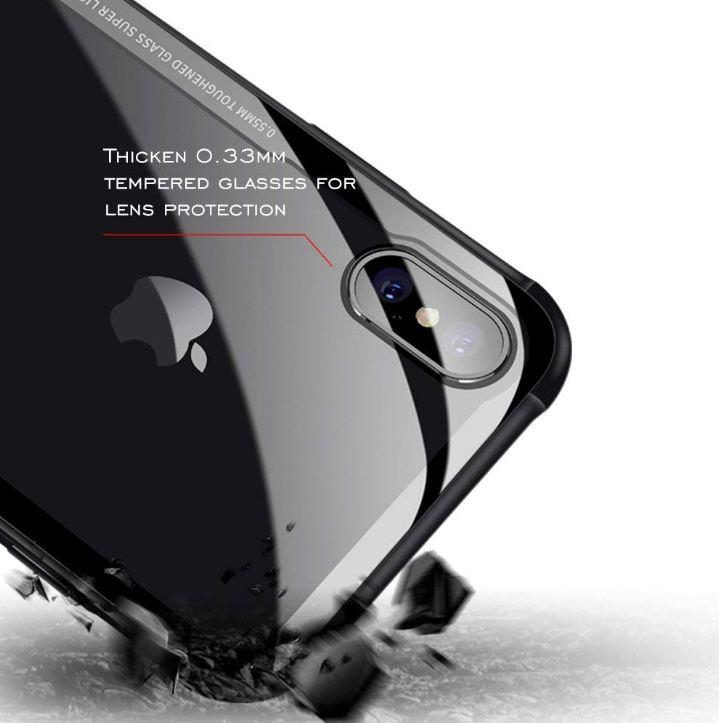 Hard Protective Back Tempered Glass For iPhone