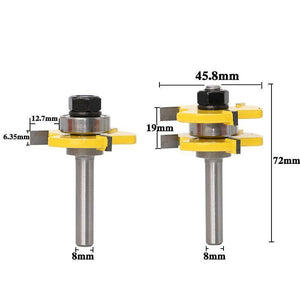 2 Bit Tongue And Groove Router Bit Set