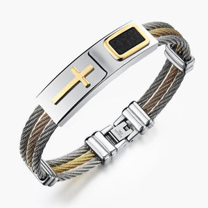 2017 Premium Gold Stainless Steel Cross Bracelet - Limited Edition