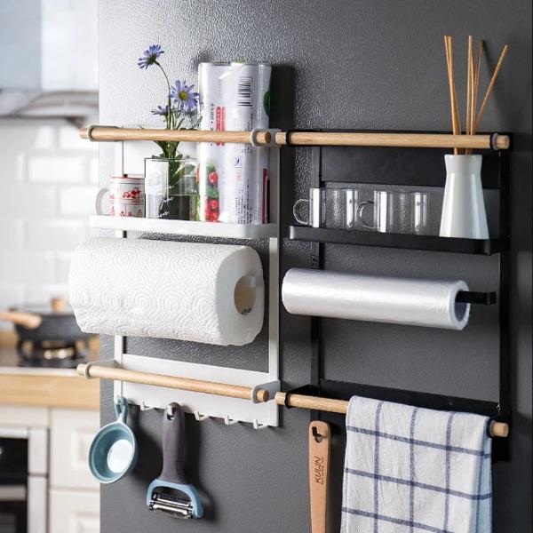 Kitchen Rack Fridge Magnetic Organizer