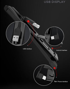 3 In 1 Multifunction USB Charging Cable
