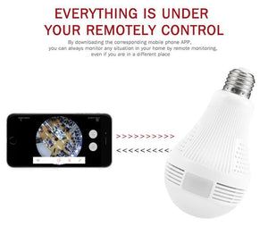360° FishEye HD Wi-Fi Light Bulb Camera