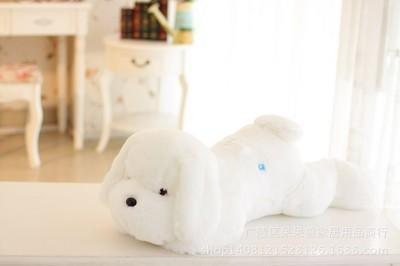 Cheapest and Best Reviews for Adorable Luminous Plush Puppy White at trendingvip.com