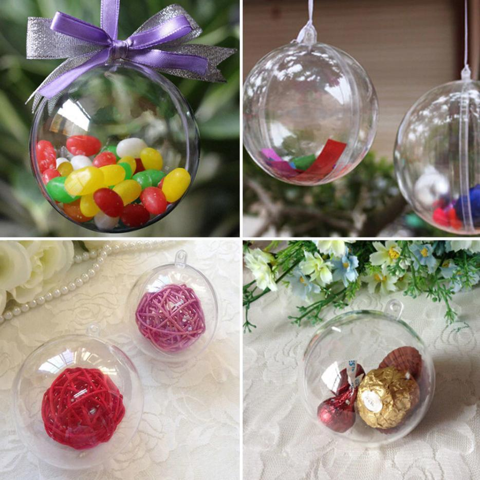 5pcs/pack Transparent Craft Christmas Balls