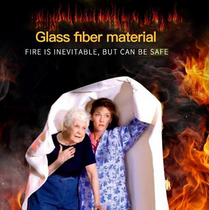 Emergency Fiberglass Fire Blanket