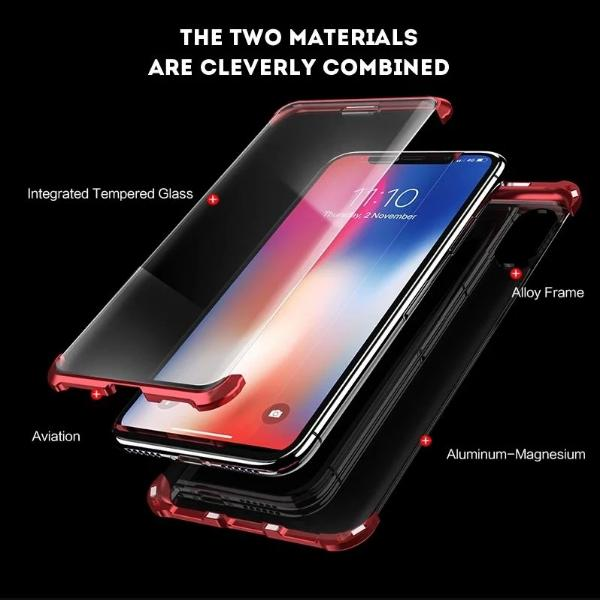 Frameless Luxury Magnetic Case For iPhone