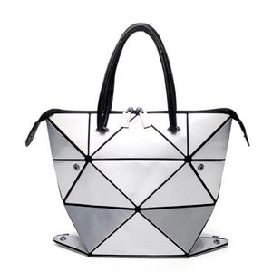 Luminous Geometric Deformation Handbag