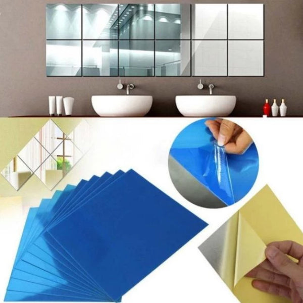 16PCS Mirror Wall Stickers