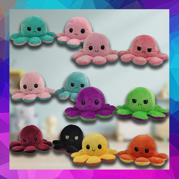 Reversible Octopus Plush Doll
