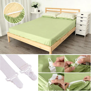 Adjustable Bed Sheet Grippers (4 Pcs)