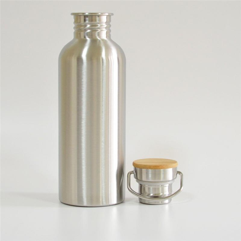 Bamboo Lid Stainless Steel Flask