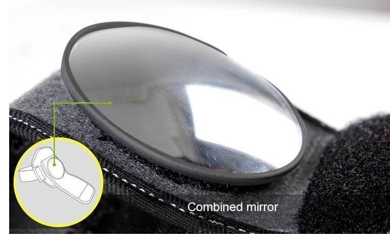 BICYCLE WRIST REARVIEW SAFETY MIRROR