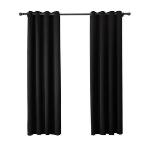 Black Thermal Insulated Blackout Panel Curtain