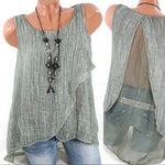 Chiffon Tank Tops Casual Loose Blouse