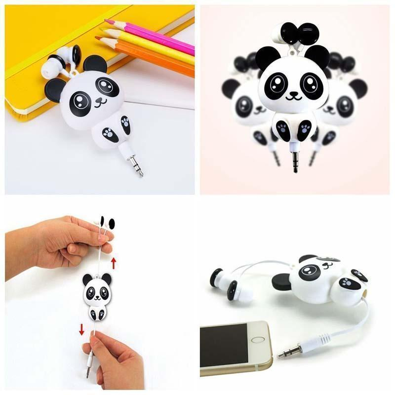 Cute Cartoon Wired Retractable In-Ear Earphone