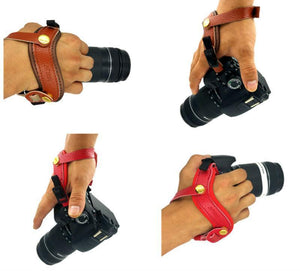 DSLR Camera Leather Grip Wrist Strap