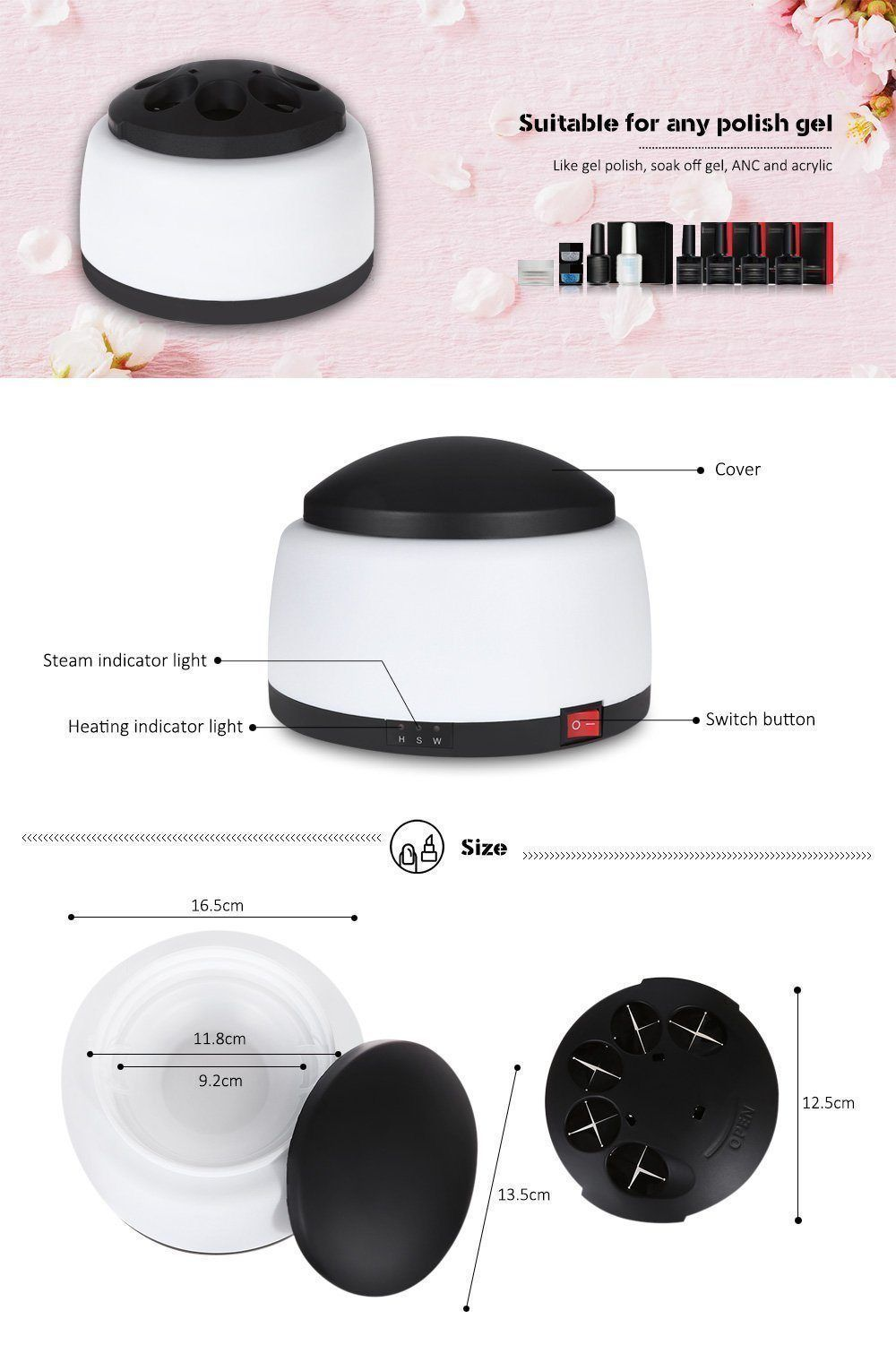 Electric Polish Nail Steamer
