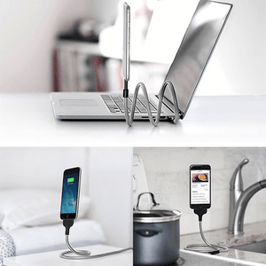 Flexi-Stand Cable Dock For All Android & IPhone