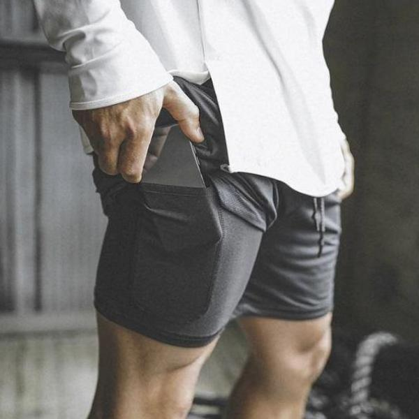 Men's Double Layer Pocket Sportswear