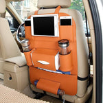 High Quality Anti-Scratch & Waterproof PU Leather Car Back Seat Organizer