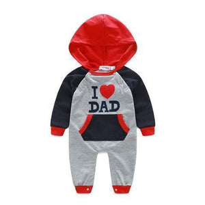 I Love Mom & Dad Baby Romper
