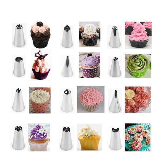 Icing Piping Cream Pastry Bag And Nozzle Set