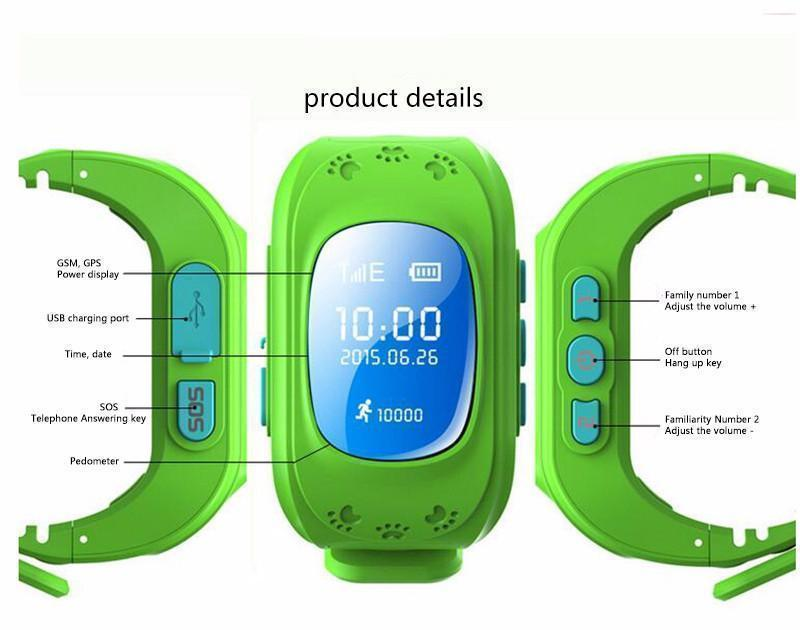 Kids Smart GPS Safe Watch & Activity Tracker