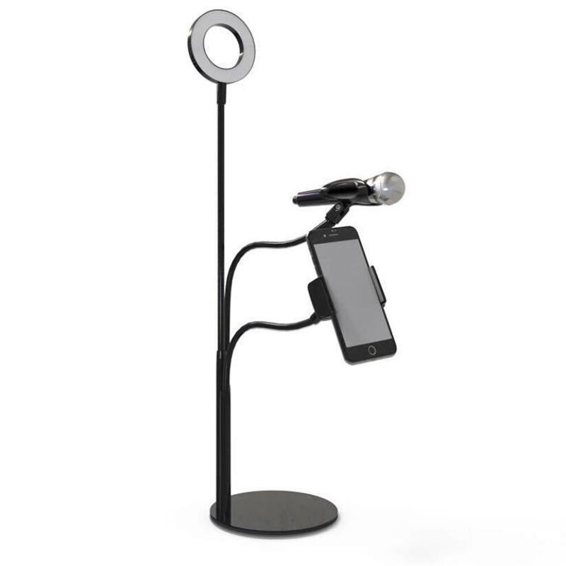 LED Selfie Light Broadcast Phone Holder