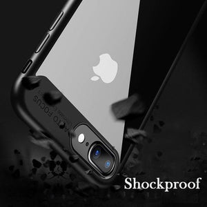 Luxury Slim Hybrid Shockproof TPU Case For IPhone X, 8, 8 Plus, 7, 7 Plus, 6 Plus, 6S Plus, 6, 6S