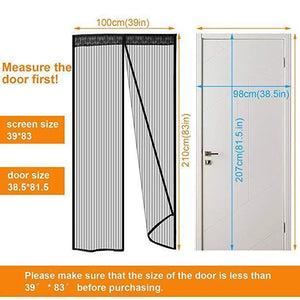 Magnetic Screen Door (39in*83in / 100cm*210cm)
