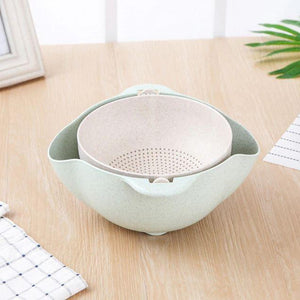Multifunctional Vegetable & Fruit Drainer Bowl