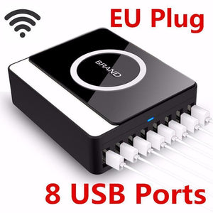 Multiple 8 Port USB Wireless Charger