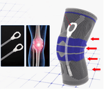 Nylon Silicone Knee Support