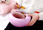 Portable Snack Bowl With Smartphone Holder