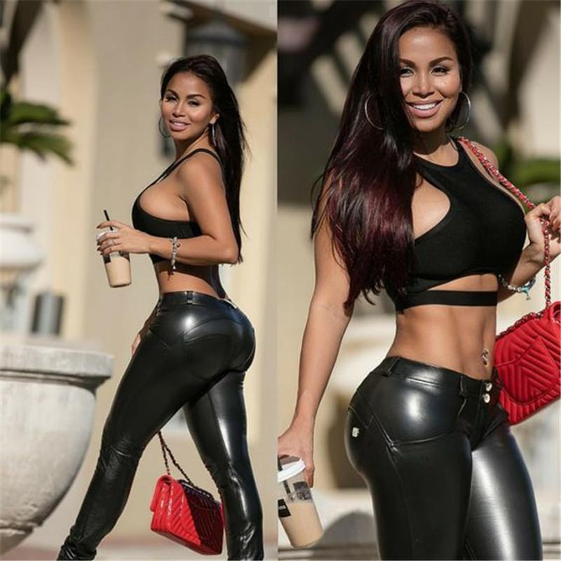 Premium Faux Leather Shaping Hip Push-Up Legging