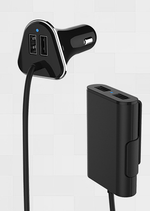 Quick Charge 2.0 - 1 Car 4 Devices - Charge 2X