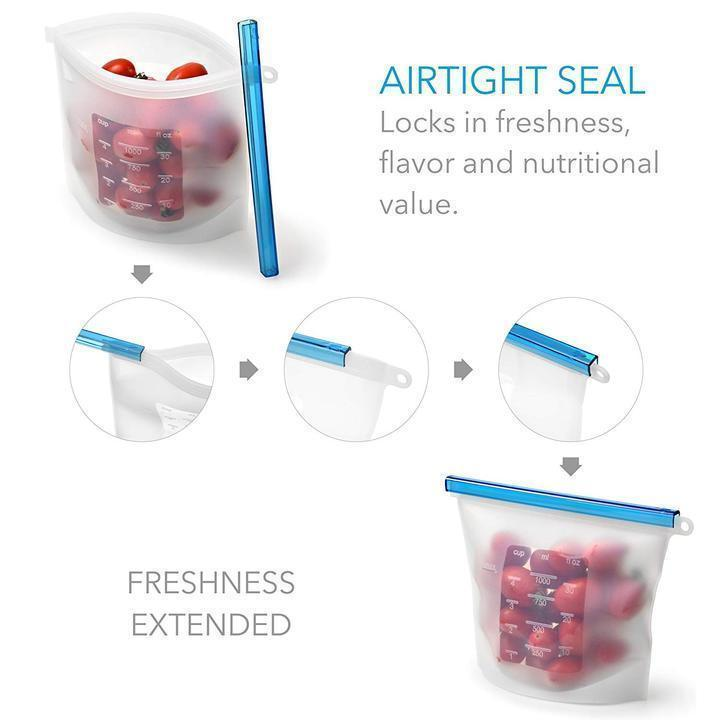 Reusable Silicone Ziplock Bag (BUY1FREE1)