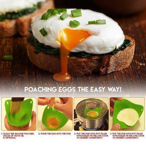 Silicone Egg Poaching Cups (4PCS)