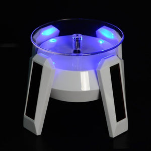 Solar Power Rotating LED Stand