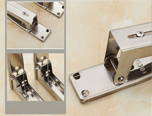 Space Saver Stainless Steel Microwave & Oven Foldable Holder