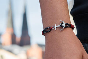 Steel Anchor Handcraft Unisex Bracelet