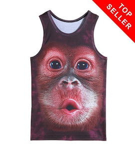 Summer Men's 3D Monkey Tank Top