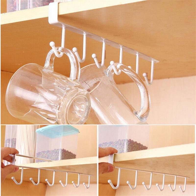 Under Shelf Hanger Rack (6 Hooks)