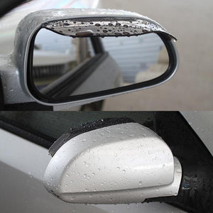 Universal Flexible Rain Shield For Car Rearview Mirror (2pcs/1pair)