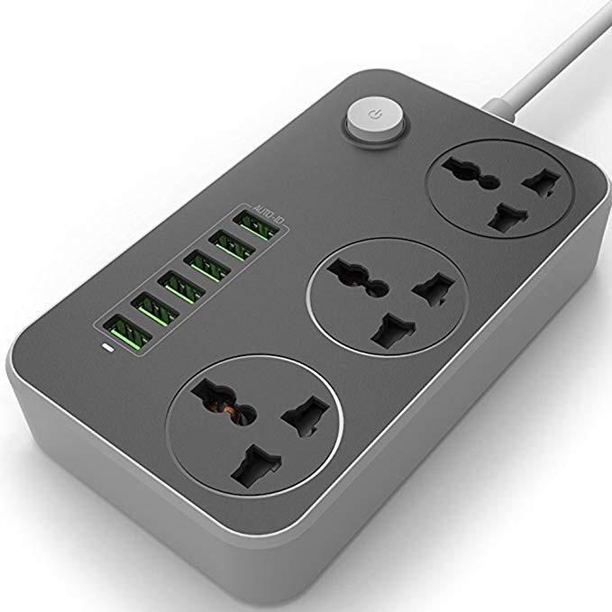 Universal Power Strip With 6 Fast Charging USB Ports